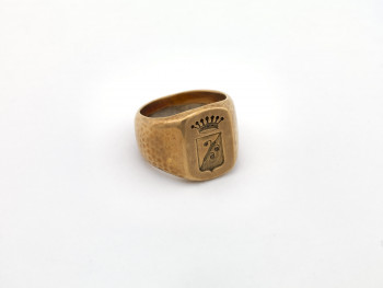 S82/107 - Anneau sigillaire, Siegelring, Signet ring, Zegelring